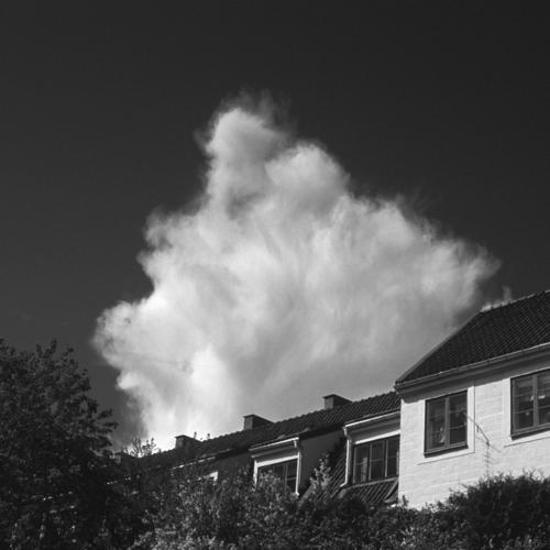 Cloud and houses